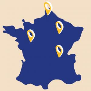 carte implantation entrepôts Logtex